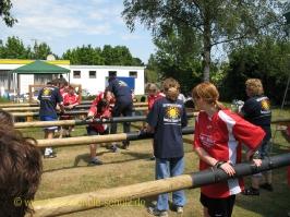 Riesenkickerturnier im Sommerbad Stadensen